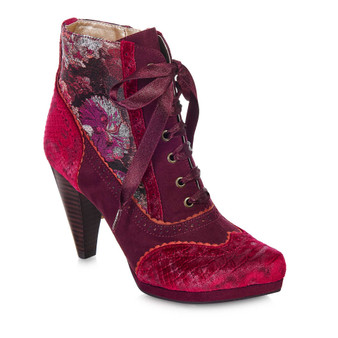 Ruby Shoo Laced Boot Bordo Peri Grey's of Templemore 37.5