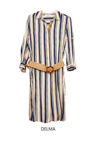 Tinta Delma Virtical Strip Shirt Dress