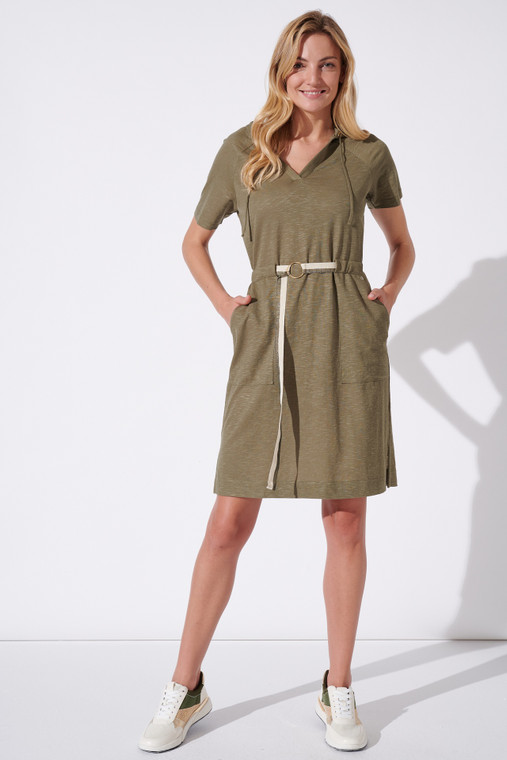 Feria Fh222-3 36 Hooded short sleeve dress