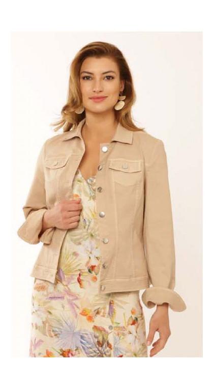 Pomodoro 42100 Cream Bengalin Jean Jacket