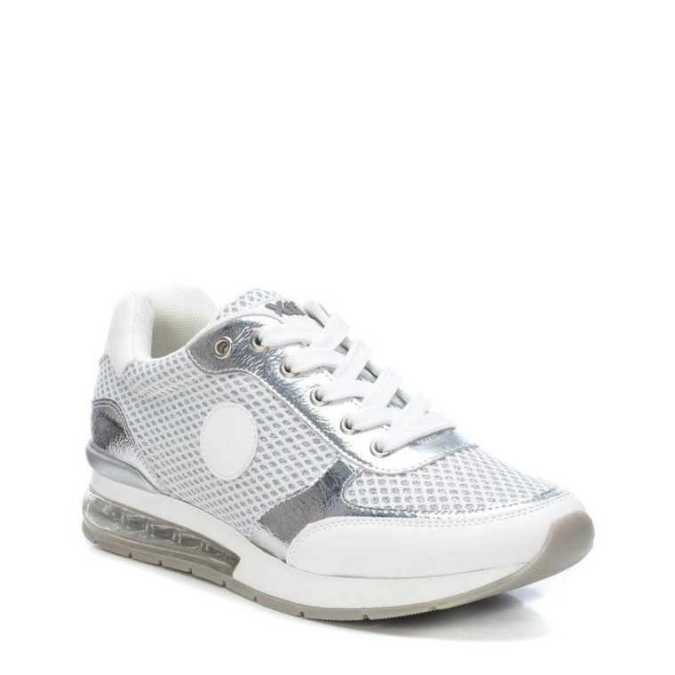 XTI 42623 Silver Textile Combined Ladies Trainer