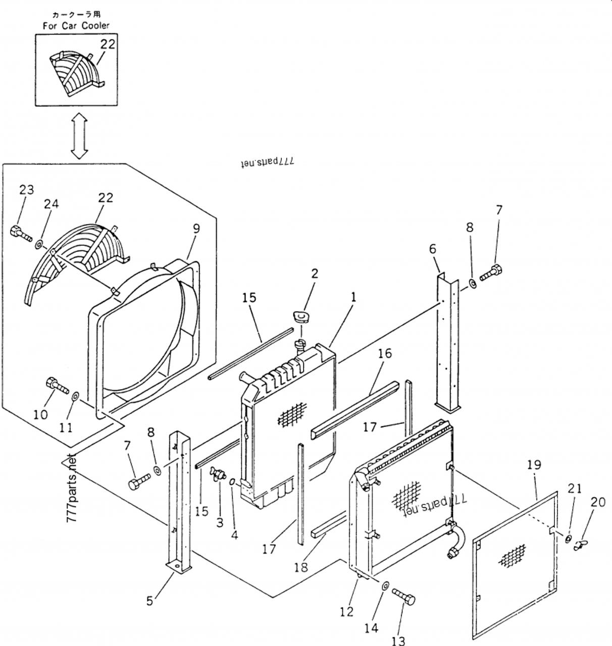 20x 03 31110 Oil Cooler Hydarulic Fits For Komatsu Pc60 6 Pc70 6