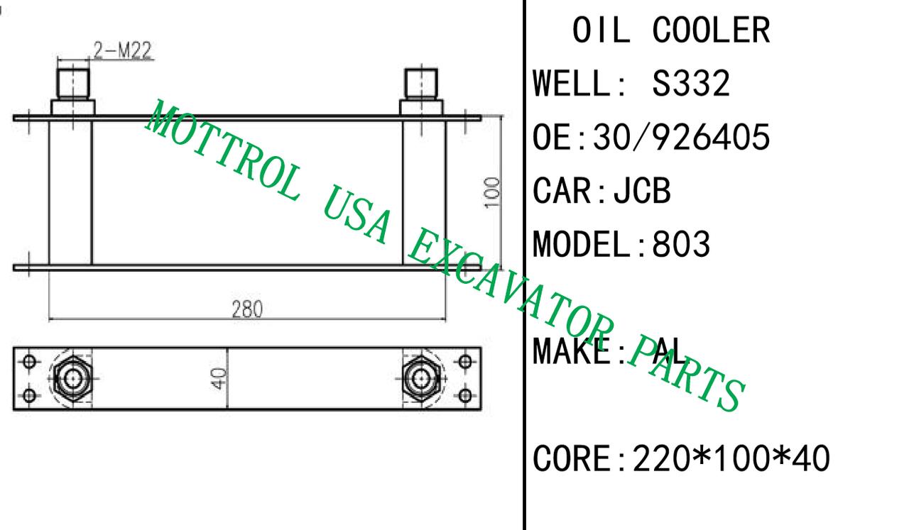 30/926405 30-926405 Oil Cooler Core 'y For JCB 803 on
