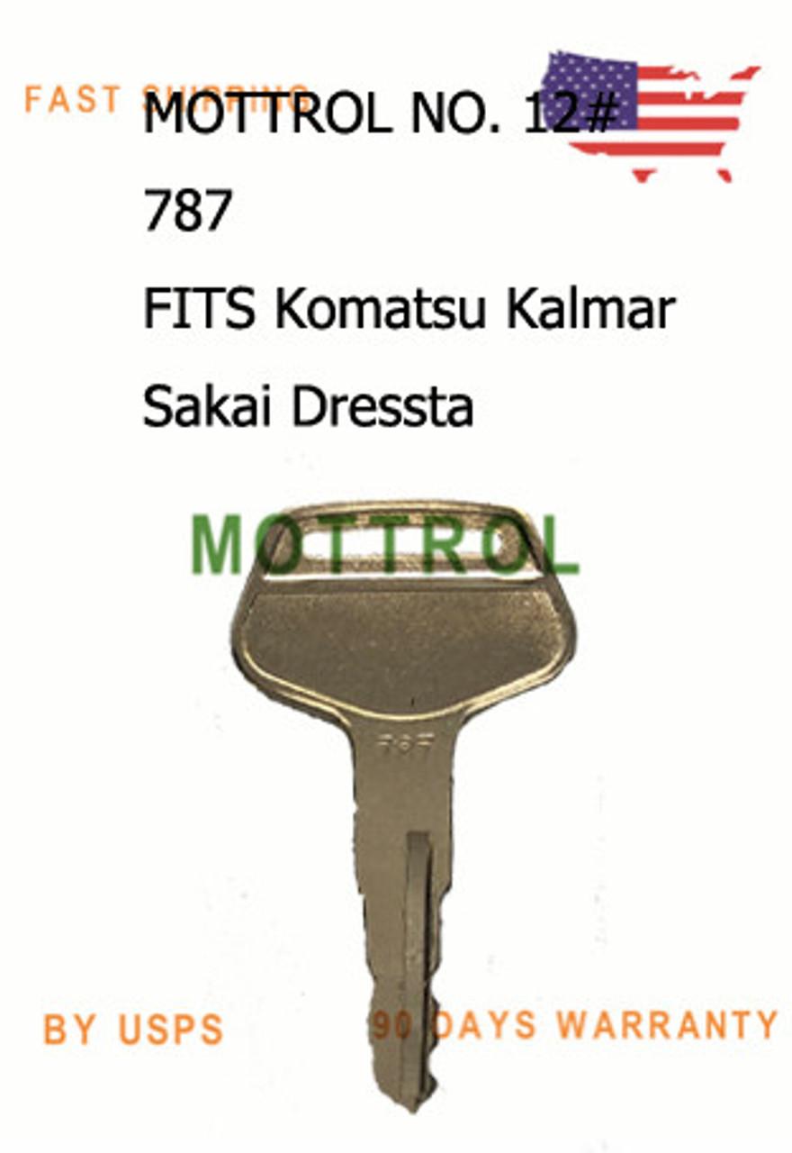 Ignition key for Komatsu Kalmar Part Number 787 Dressta Sakai