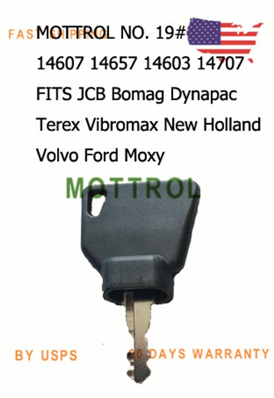 ignition key 14607 Volvo bobcat Bomag caterpillar excavators Ford Gehl Track jcb