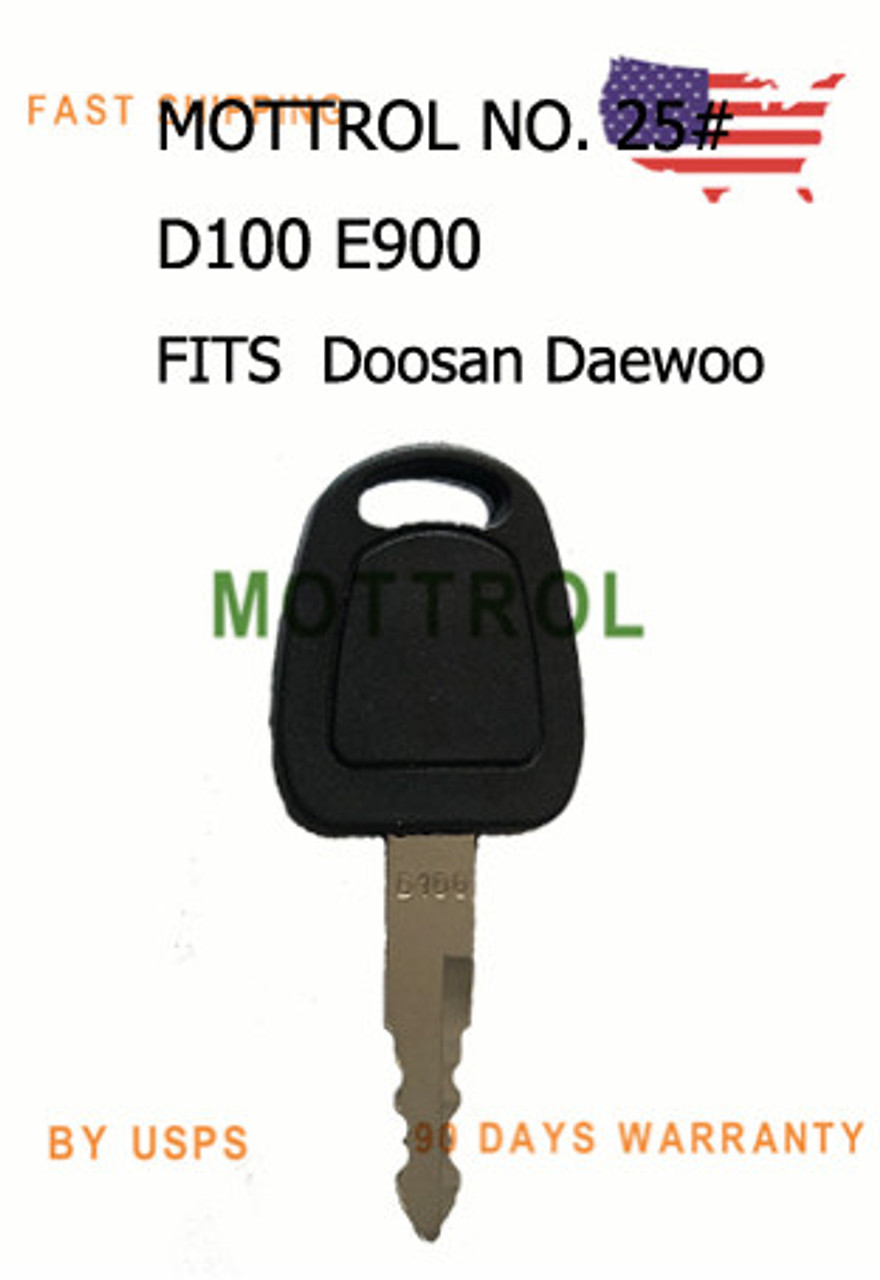 8 pcs D100 E900 KEYS FITS Doosan Daewoo Heavy Equipment Ignition Starter DH60 55