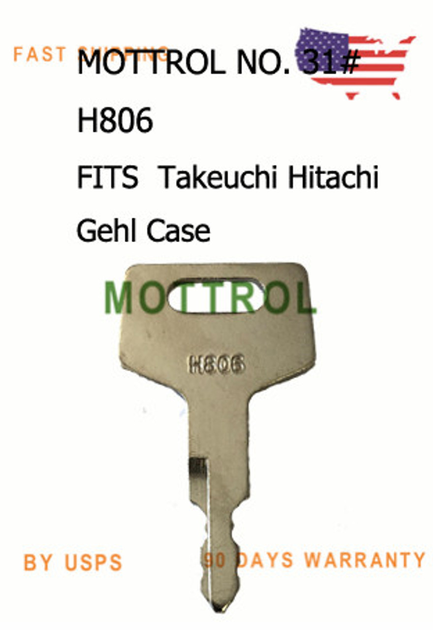 5 pcs Ignition Switch Key H806 17001-00019 for Takeuchi Gehl Case New Holland