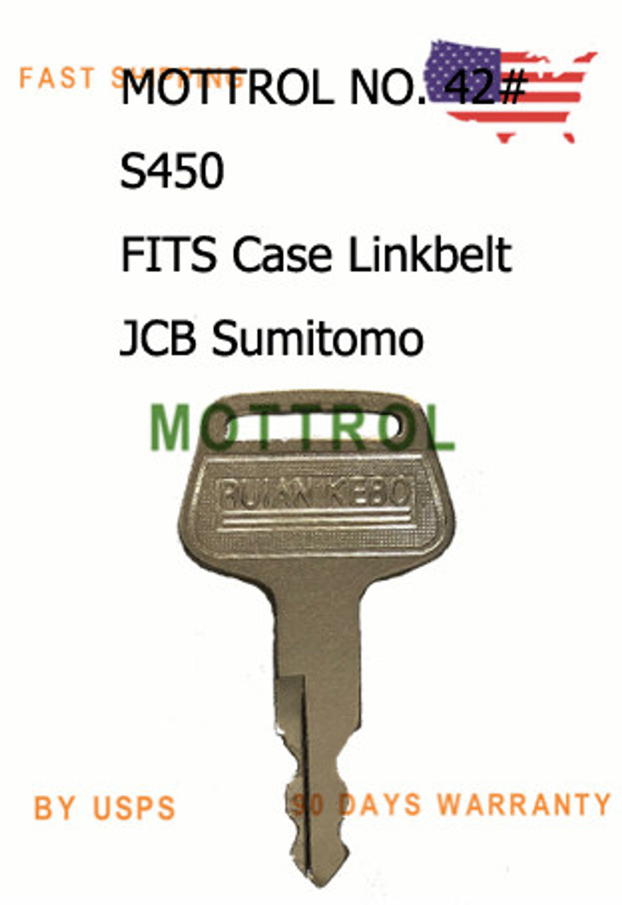 2 Keys 150979A1 KHR3079 S450 Fit for Various Case-IH JCB Linkbelt Sumitomo Excavator Models