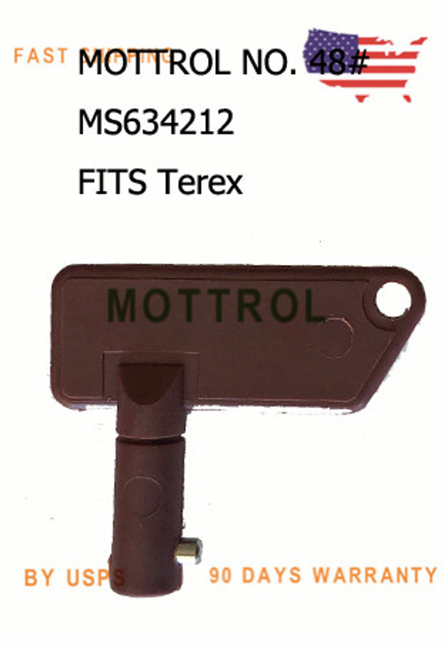 2 Keys 8157766 for Volvo Heavy Equipment Master Battery Disconnect Isolator Mover Parts