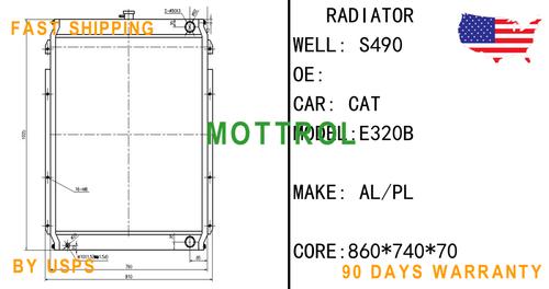 118-9953 1189953 CORE RADIATOR,WATER FIT Caterpillar CAT