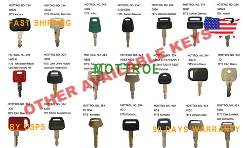 5 pcs 14601 Keys for Case IH Ford New Holland Tractor Models 5640 6640 7740 7840