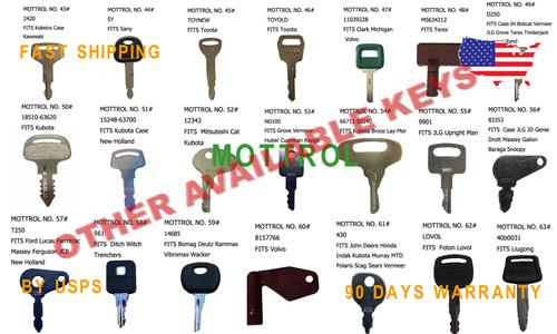 5 pcs keys  PC-8 PC-7  KOMATSU EXCAVATOR PC200-8,PC130-8 PC350-8 PC460-8 PC240-8