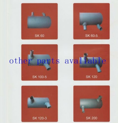 FREESHIP 4256163 MUFFLER FITS FOR HITACHI  EX200-3 EX200LC-3 6BD1 ENGINE,NEW