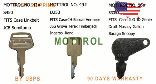 4pcs Ignition Key fits Kobelco part # 2420Z1030D2 Case YN50501010P1 Excavator