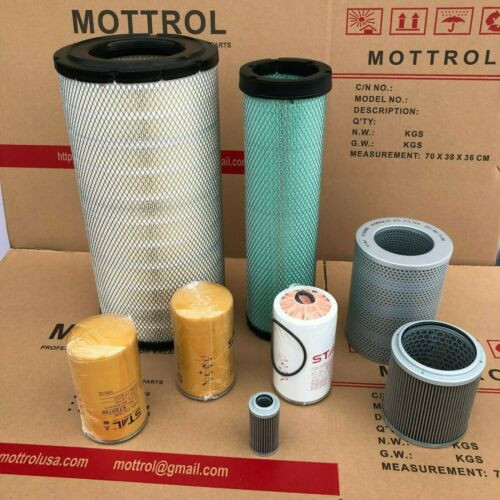 YR 2010 KOMATSU S 160 Filter Service Kit Air Oil Fuel Filters w//Kubota D1105-ET08 Eng