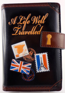 SHAGWEAR TRAVEL DIARY BLACK PASSPORT HOLDER