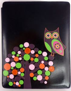 SHAGWEAR RETRO OWL BLACK I-PAD COVER