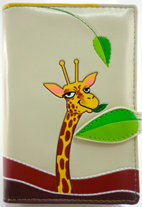 SHAGWEAR GIRAFFE CREAM PASSPORT HOLDER