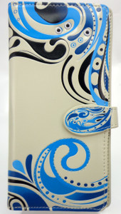 SHAGWEAR WAVES ABSTRACT LARGE WALLET