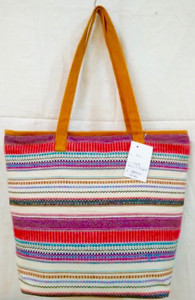 ZIANNA COTTON WOOD TOTE