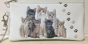 MIA LOUISE KITTY CAT CLUTCH/ PURSE / PHONE WALLET