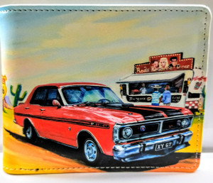 WYLD FORD GTHO RED (RFID) MENS WALLET