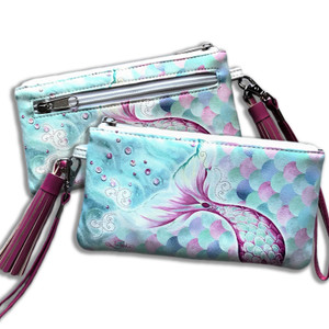 LISA POLLOCK MERMAZING PINK CLUTCH