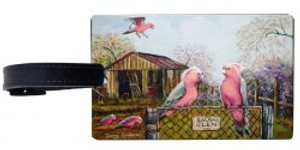 australianna galah luggage tag