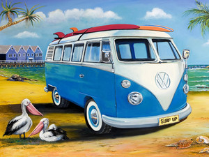 KOMBI SURFS UP TIN SIGN 30cm x 40cm