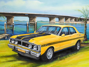 GTHO FALCON YELLOW TIN SIGN  30cm x 40cm