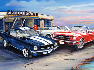THREE MUSTANGS TIN SIGN  30cm x 40cm