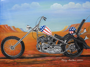 EASY RIDER TIN SIGN 30cm x 40cm