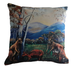 KANGAROO  CUSHION COVER + INSERT 45cm x 45