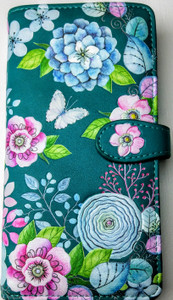 WATER COLOUR FLORAL IN TEAL