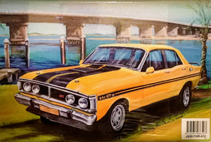 YELLOW FORD GTHO CANVAS PRINT 20X30CM