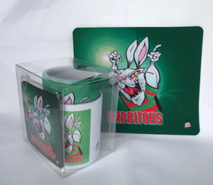 RABBITOHS 4PCE SET, MUG, COASTER,STUBBIE HOLDER, MOUSE PAD