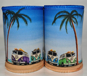BEACH KOMBI VANS SURF BOARDS STUBBIE HOLDERS