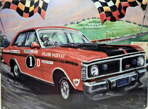 GT FALCON ALAN MOFFAT TIN SIGN 30CMX 40CM