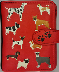 DOGS DOGS DOGS SALMON SMALL WALLETS