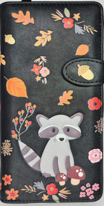 RACCOON AND FRIENDS BLK WALLET