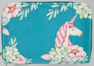 UNICORN TEAL COIN PURSE