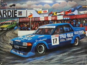 TRUE BLUE FORD TIN SIGNS 30X40CM