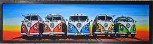 5X SPLIT SCREEN KOMBI'S BAR RUNNER 890MMX240MM