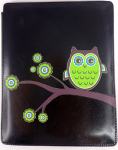 SHAGWEAR OWL BLACK (ORIGINAL) I-PAD COVER
