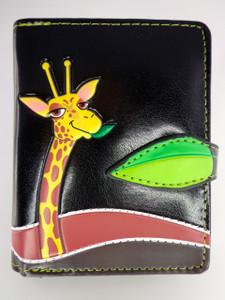 ShagWear Wallet Small Giraffe Black ZIP STYLE