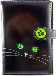 SHAGWEAR CATS EYES BLACK PASSPORT HOLDER