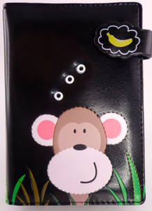 SHAGWEAR PEEKING MONKEY BLACK PASSPORT HOLDER