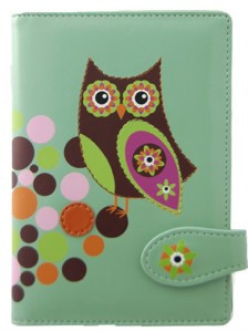 SHAGWEAR RETRO OWL TEAL PASSPORT HOLDER