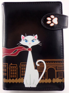 SHAGWEAR TRAVEL CAT BLACK PASSPORT HOLDER