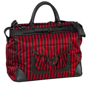 SL Blk Stripe Red Getaway Bag